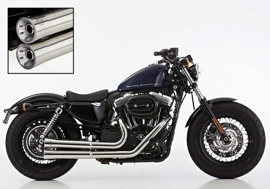 harley davidson sportster exhaust xl 1200 2006 up magnum exhaust system double groove 2 into 2 uk legal exhaust with cat tuv