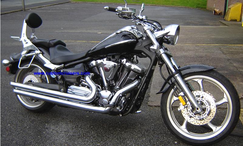 yamaha xv1900 raider exhaust cobra speedster slashdown exhaust