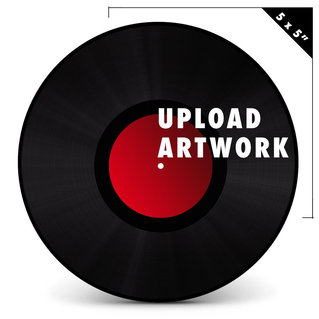 5 center label upload your own artwork for 5 labels for vinyl controllers