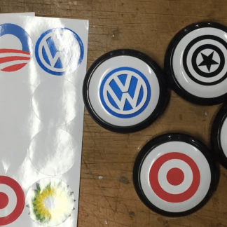 Custom easy buttons made with the Custom Easy Button Maker Kit