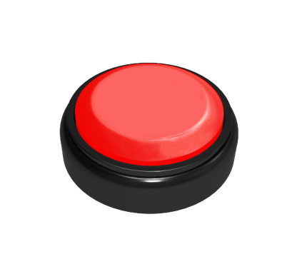 Custom Easy Button Surprise Sequencer has a Red Top Sound Button that plays 3 Messages in Sequence