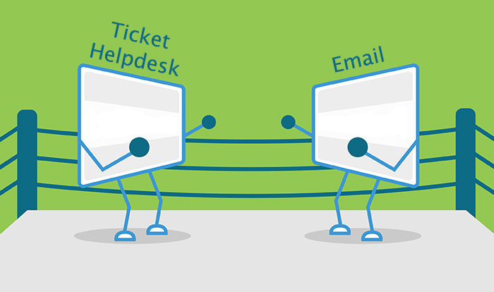 why helpdesk? boxing ring comparison of email vs helpdesk