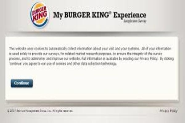 My Burger King Experience Survey