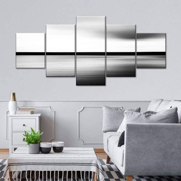 Abstract Horizon Multi Panel Canvas Wall Art