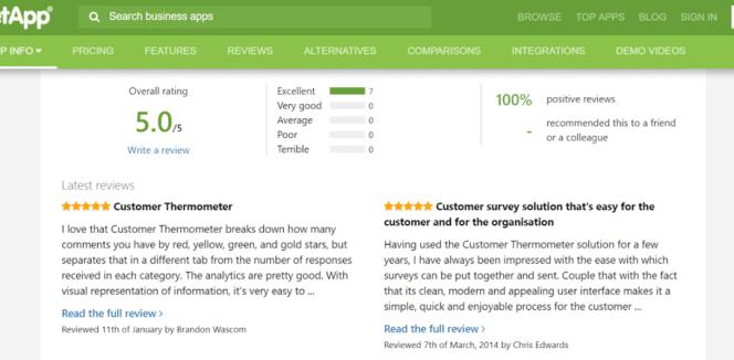 customer trust reviews