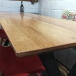 Cedar Table with Metal Legs