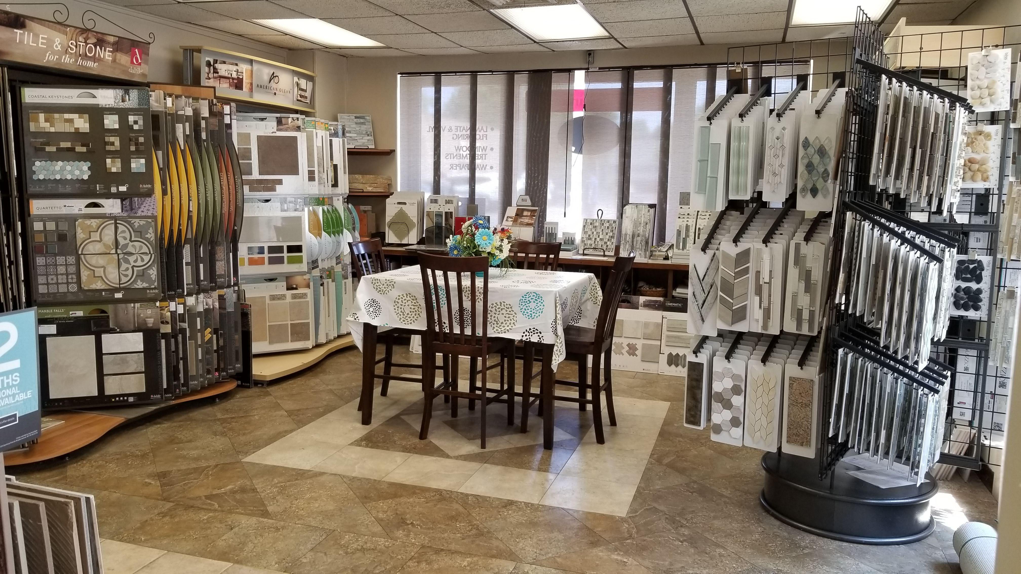 Custom Home Interiors Tile Design Table