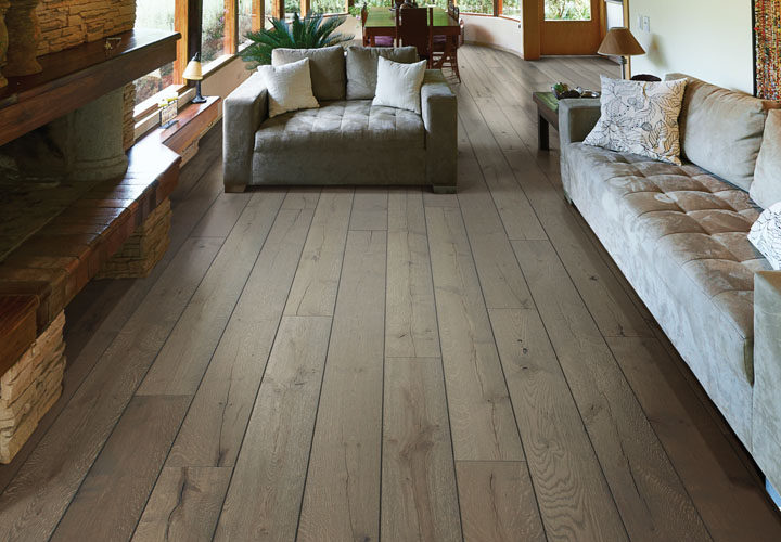 TRULY HANDCRAFTED IN THE USA Sliced face hardwood distinctly textured by master craftsmen to create generations of character in each plank.