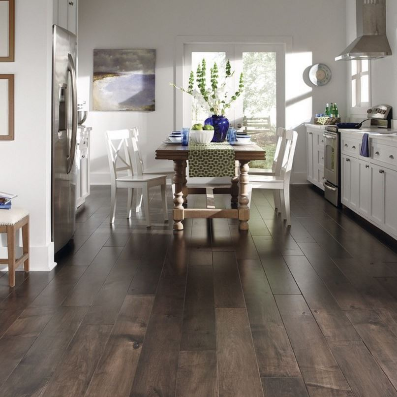 Mannington handcrafted hardwood flooring in the Maison Collection style Versailles, color Fountain
