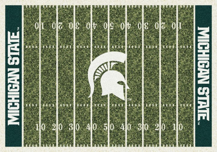 Michigan State Football Field Area Rug - MSU