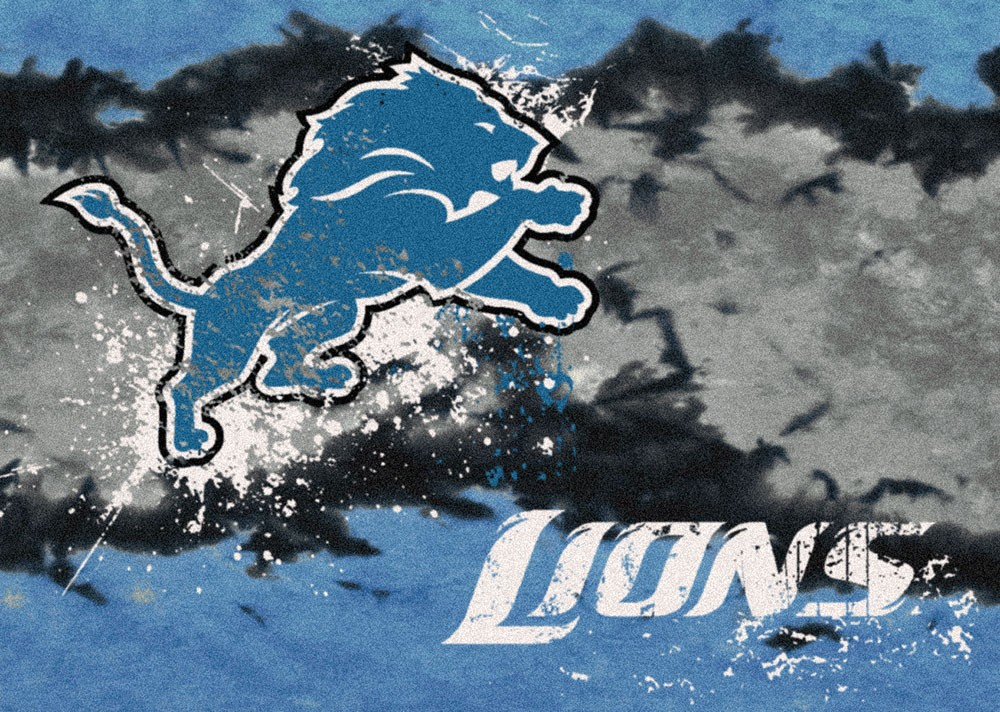 Detroit Lions Football Fade Area Rug - NFL