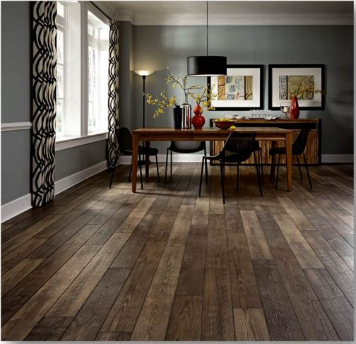A Mix Of Modern With Reclaimed Class In This Mannington Laminate.