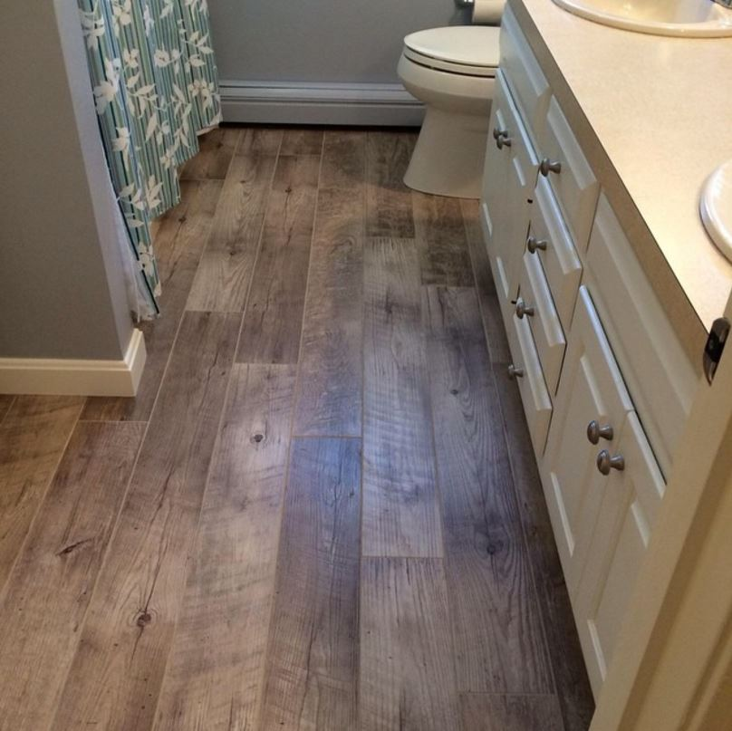 Mannington Laminate Flooring Installation Part - 30: Mannington Adura Wood Plank With A Grouted Installation! Style Is Dockside.