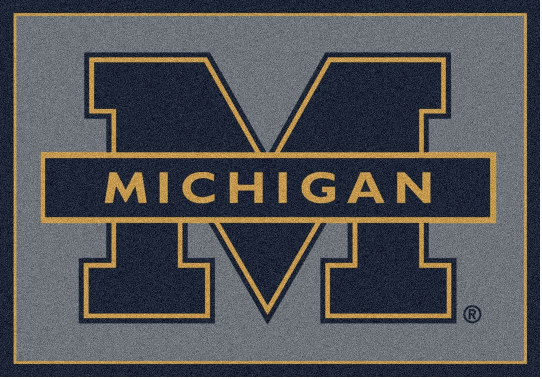 University of Michigan Spirit Area Rug - UM
