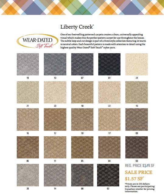 Mohawk Wear Dated Nylon Liberty Creek Color Bank