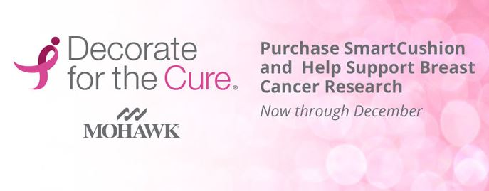 Mohawk Smart Cushion Komen Memory Foam Padding Decorate for the Cure