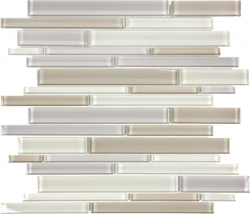 Virginia Tile Ceramic Tiles International Glass Tile Debut Dune Bend Random Linear Mosaic