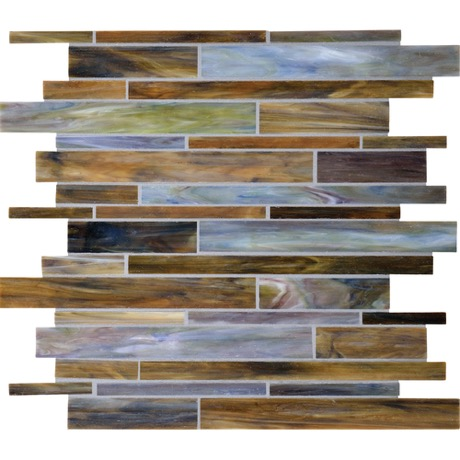 Blending the natural colors of rolling plains and fresh waters, DalTile Blue Grass is glass mosaic art for your home.
