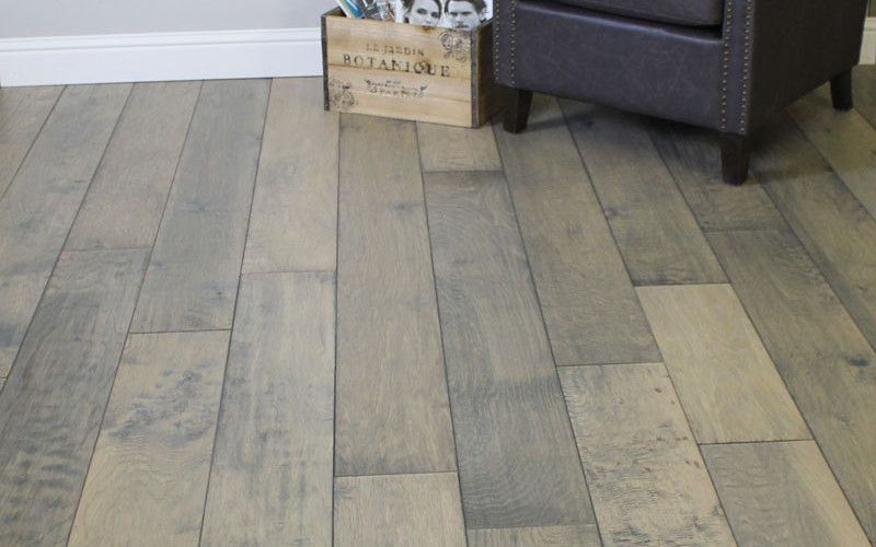 Longer, wider hardwood planks by Homecrest have multi dimensional staining for distinctive beauty.