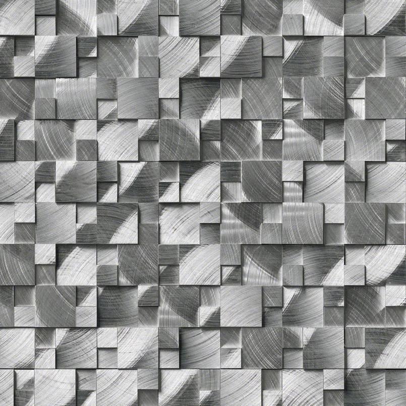 Silver Aluminum Metal 3d Pattern MSI