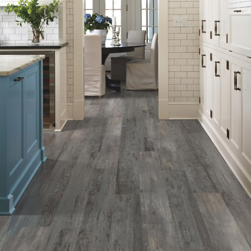 Mohawk SolidTech Luxury Vinyl Planks are a great choice for high activity spaces like kitchens and dining rooms.