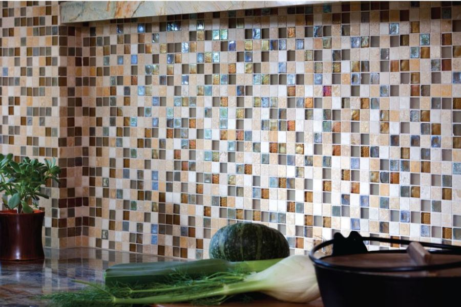 Sun and Sea ColorPop Mosaic Glass and Stone available at Custom Home Interiors!