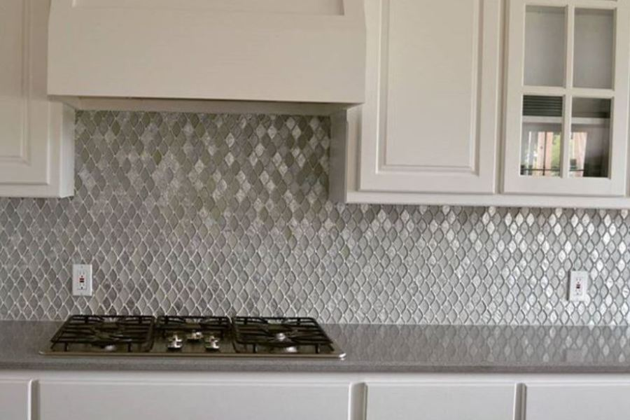 Seashell Opal Grey Glass Mosaic available at Custom Home Interiors!