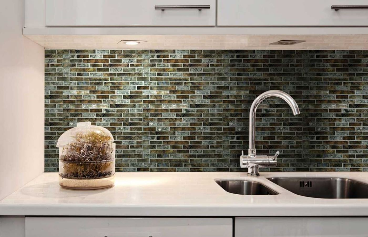 DalTile Tiger's Eye Glass Mosaics available at Custom Home Interiors!