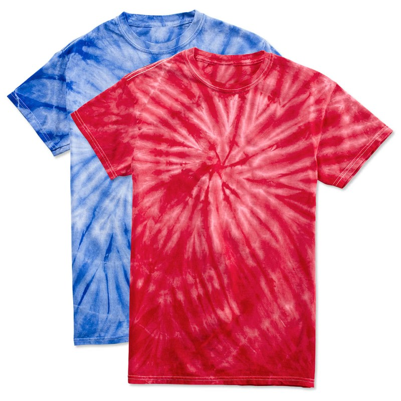 How to make tie dye shirts with more than one color for Custom tie dye t shirts