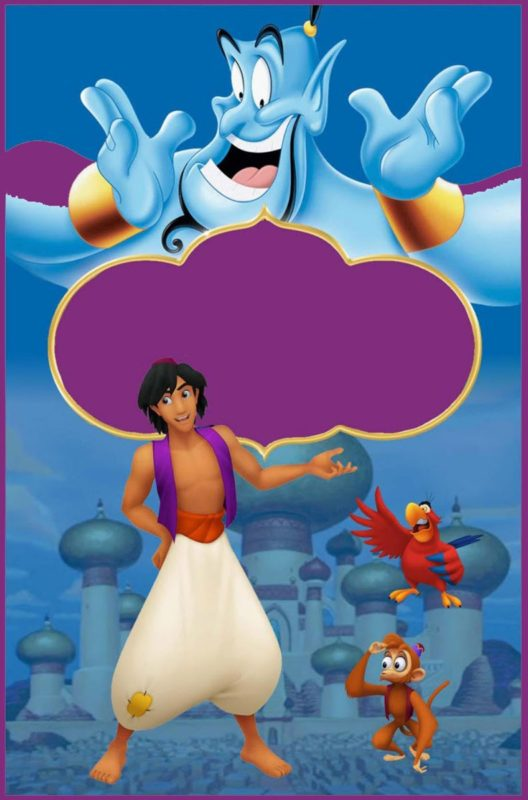 aladdin invitations a whole new world