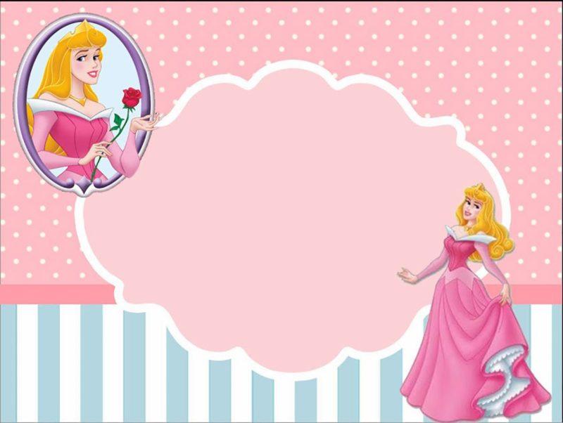 princess birthday invitation template