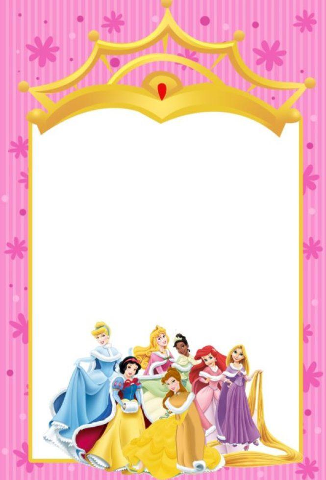 princess party invitation free template : Cogimbo.us