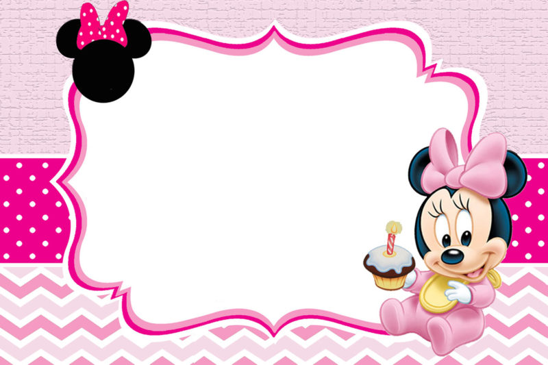 The Largest Collection Of Free Minnie Mouse Invitation Templates Part 1