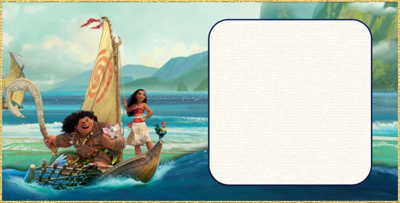 moana birthday or shower invitations