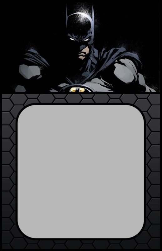 printable batman invitation card free