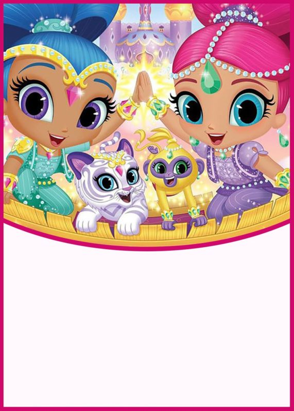 Shimmer And Shine Party Invitation Card Free Invitation Templates