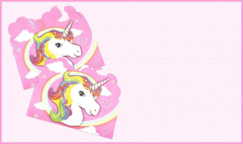 unicorn invitation template free