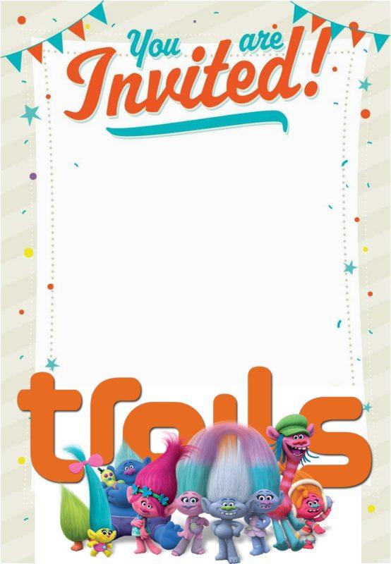 16 Free Printable Trolls Invitation Templates Free Invitation Templates