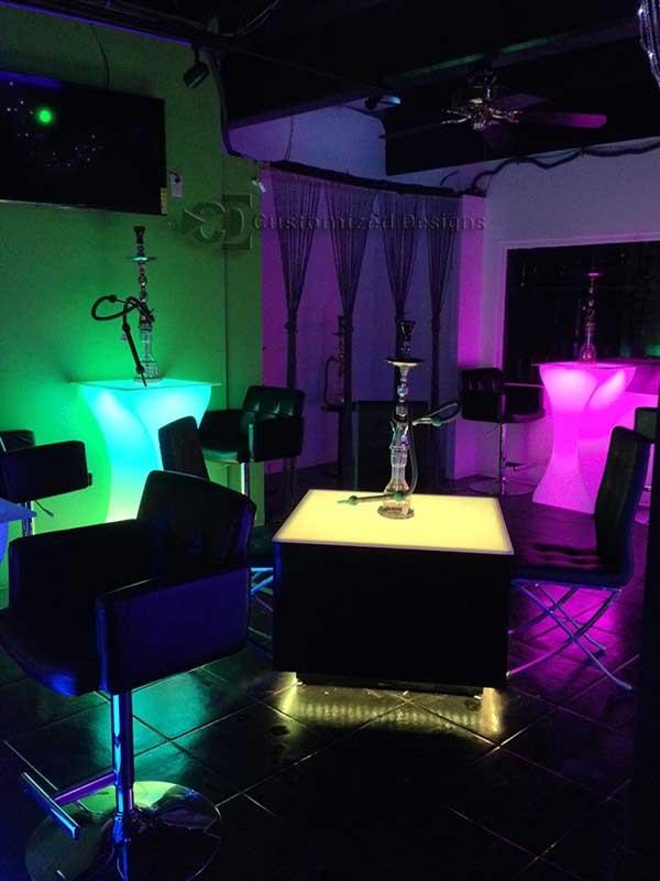 Cubix Series 36 X 36 LED Illuminated Coffee Table