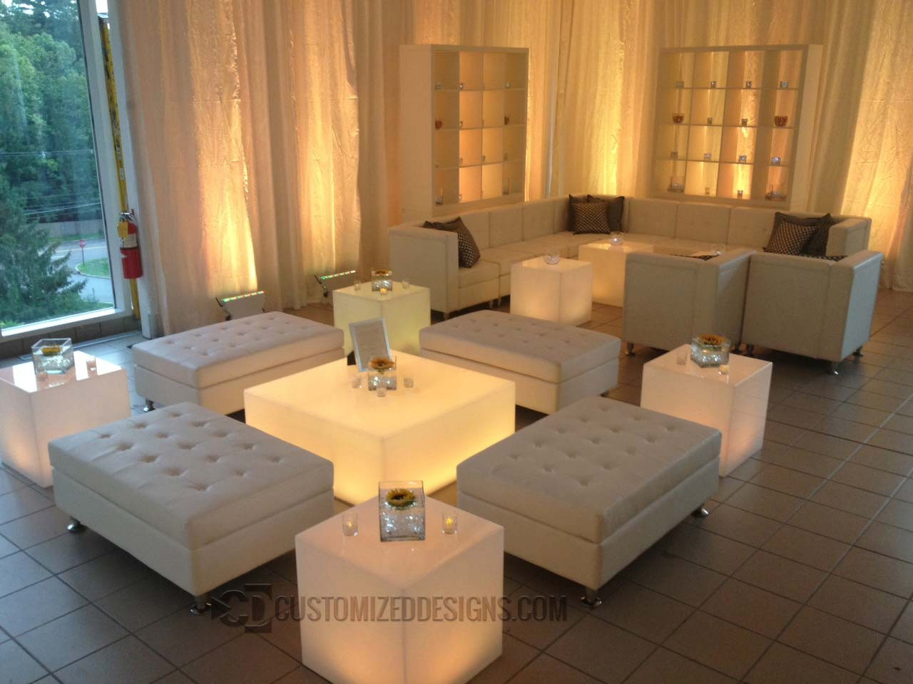 LED Lighted Coffee Table For Nightclubs Lounges Or Home Bars