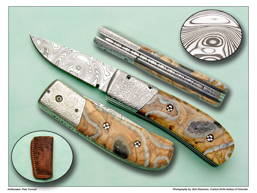 Mammoth Scale Release Knife | Custom Knife Gallery of Colorado