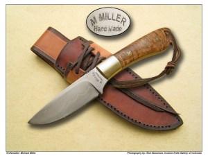 Michael Miller English Walnut & Silver Wire Hunter