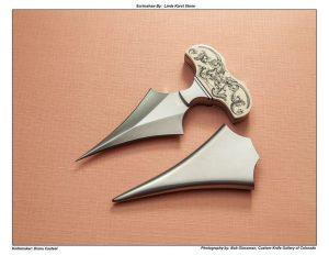 Diana Casteel – Scrimmed Mammoth Ivory Push Dagger