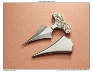Diana Casteel – Scrimmed Mammoth Ivory Push Dagger
