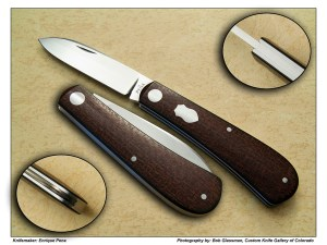 Enrique Peña – Basket Weeve Brown Micarta Zulu