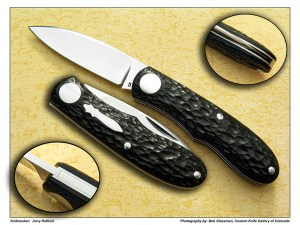 Jerry Halfrich – Smaller Rounder In Black Jigged Micarta