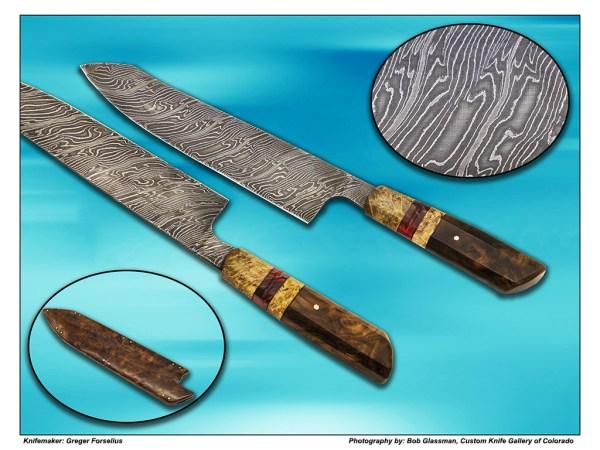 Greger Forselius Damascus Kitchen Knife