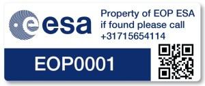 ESA Asset Label tag