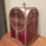 Laser Waterjet Cutting Used to Create a Silicone Bronze Tabernacle