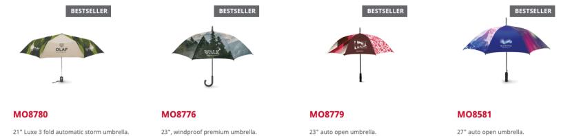custom made paraplu